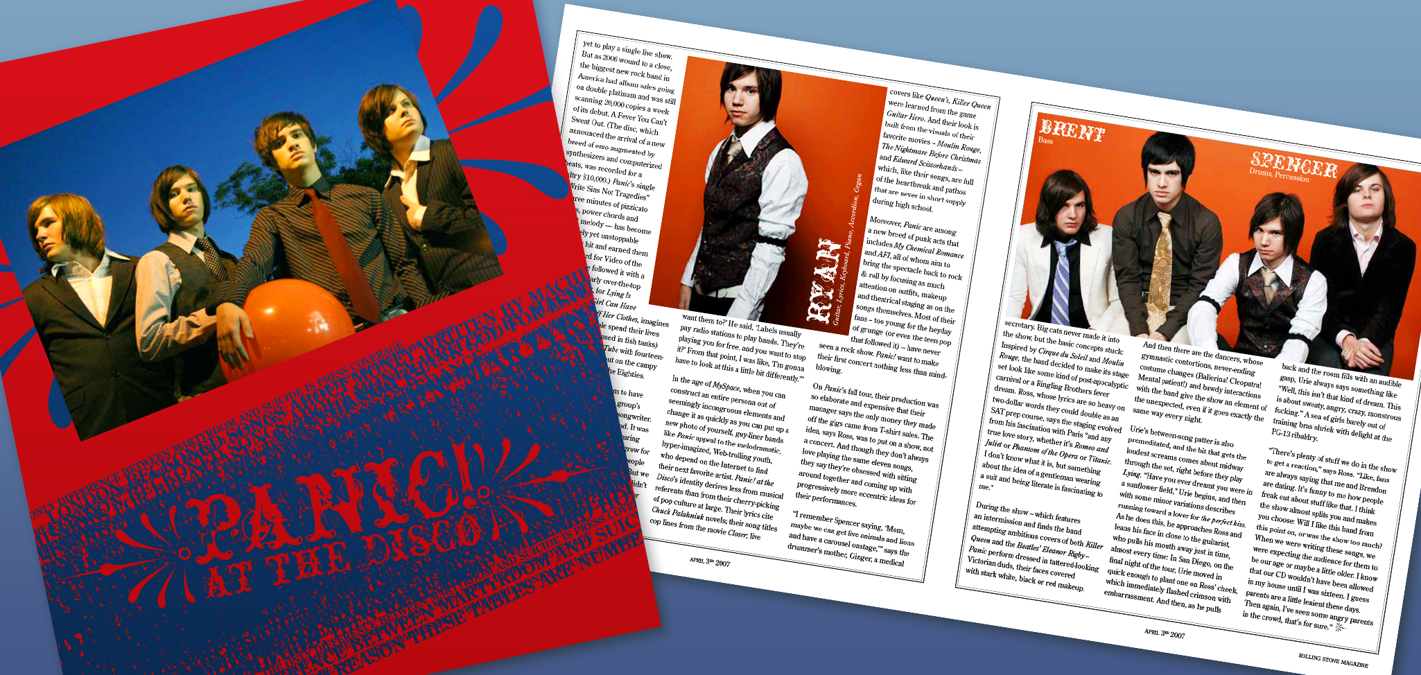 Panic! At The Disco, Magazine Spread